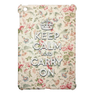 Chic keep calm and carry on iPad mini case