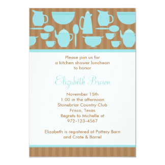 Chic Kitchen Bridal Shower Invitation (Teal)