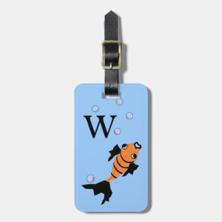 CHIC KYGGAGE TAG_GOLD FISH AND BUBBLES LUGGAGE TAG