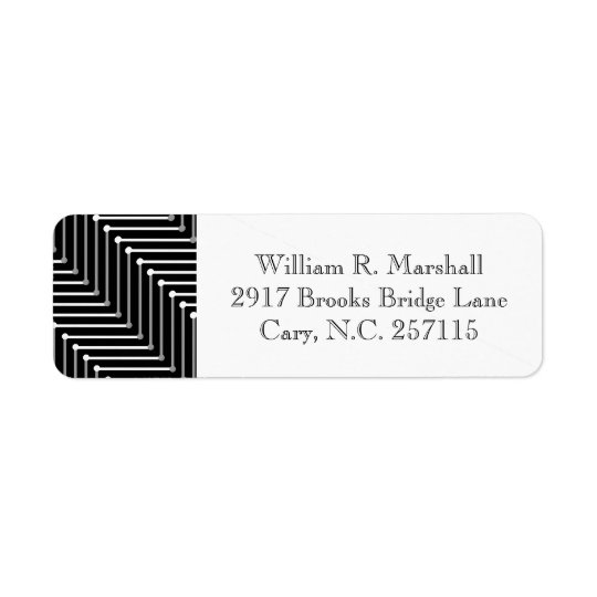 CHIC LABELS_BLACK/WHITE/GREY ZIGZAG RETURN ADDRESS LABEL
