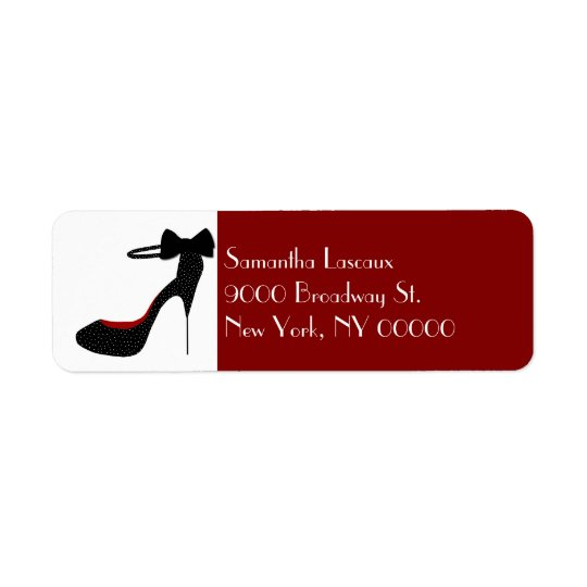 Chic Ladies Stiletto High Heel Custom Return Address Label