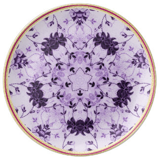 Chic Lavender Flower  Decorative Porcelain Plate