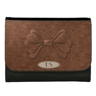 Chic Leather Look Cute Bow Wallet
