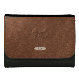 Chic Leather Look Pretty Bow Wallet