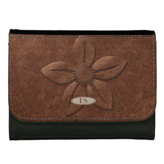 Chic Leather Look Pretty Flower Wallet