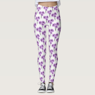 CHIC LEGGINGS_MOD  LAVENDER POPPIES LEGGINGS
