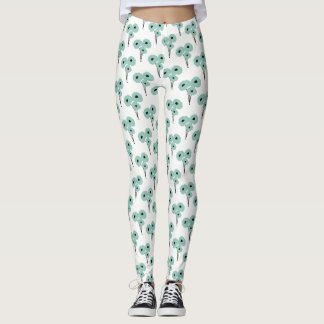 CHIC LEGGINGS_MOD  SEAFOAM POPPIES LEGGINGS