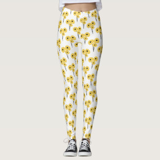 CHIC LEGGINGS_MOD  YELLOW POPPIES LEGGINGS