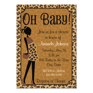 Chic Leopard Mommy-to-be Baby Shower Invitation