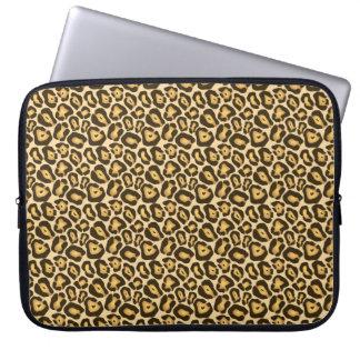 Chic Leopard Print Laptop Sleeve