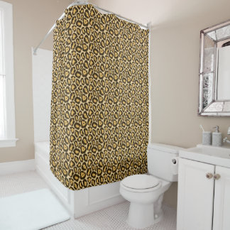 Chic Leopard Print Shower Curtain