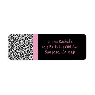 Chic Leopard Return Address Labels