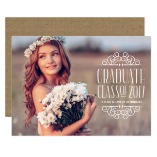 Chic Lettering | 2017 Photo Graduation Party Card