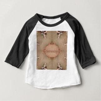 Chic Light Tan Peach Modern Serenity Baby T-Shirt