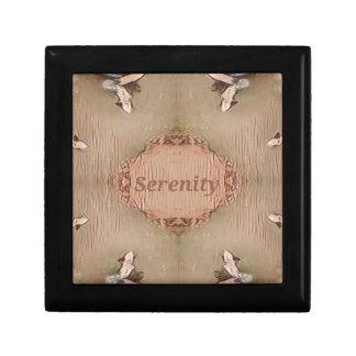 Chic Light Tan Peach Modern Serenity Gift Box