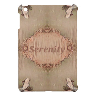 Chic Light Tan Peach Modern Serenity iPad Mini Cover