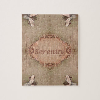 Chic Light Tan Peach Modern Serenity Jigsaw Puzzle