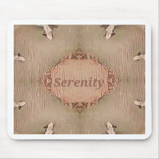 Chic Light Tan Peach Modern Serenity Mouse Pad