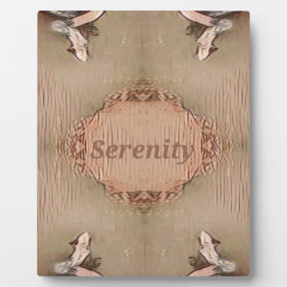 Chic Light Tan Peach Modern Serenity Plaque