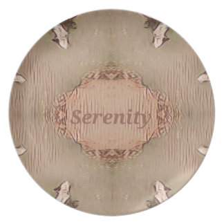 Chic Light Tan Peach Modern Serenity Plate