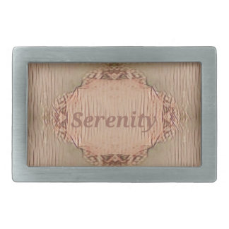 Chic Light Tan Peach Modern Serenity Rectangular Belt Buckle