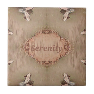 Chic Light Tan Peach Modern Serenity Tile