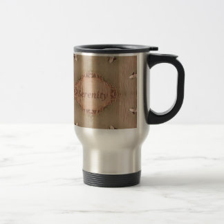 Chic Light Tan Peach Modern Serenity Travel Mug