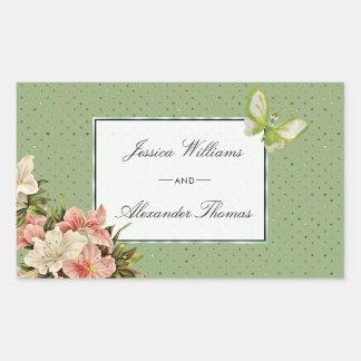 Chic Lilies & Gem Butterfly Wedding Sticker