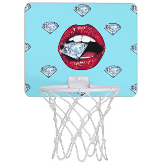 Chic Lips Diamond Girly Mini Basketball Hoop