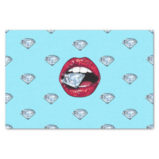 Chic Lips Diamond Girly Tissue Paper