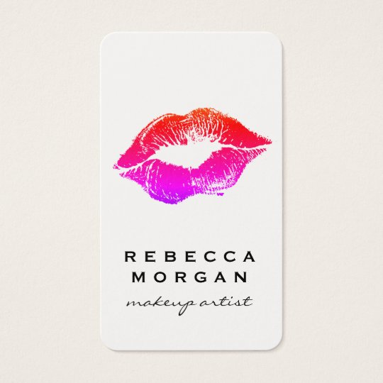 Chic Lipstick Kiss Business Card