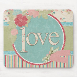 "Chic ""Love"" Mouse Pad"