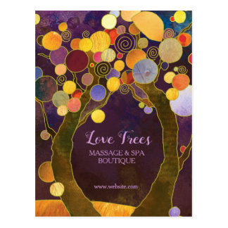 Chic Love Trees Business Multi Purpose Postcard