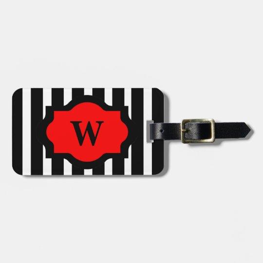 CHIC LUGGAGE/BAG TAG_01 RED/BLACK/ WHITE LUGGAGE TAG