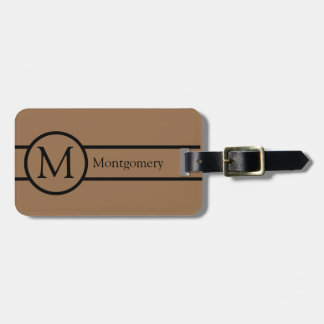 CHIC LUGGAGE/BAG TAG_37 BROWN/MONOGRAM LUGGAGE TAG