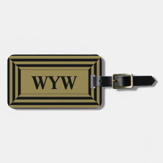 CHIC LUGGAGE/BAG TAG_47 DEEP TAN_GEOMETRIC _2 LUGGAGE TAG