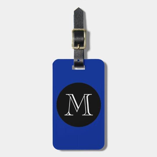 CHIC LUGGAGE/BAG TAG_ 66 BLUE/BLACK/MONOGRAM LUGGAGE TAG