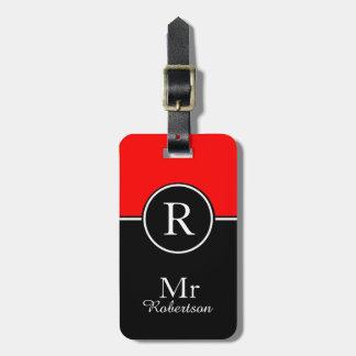"CHIC LUGGAGE/BAG TAG_MODERN ""Mr"" 01 RED/BLACK Luggage Tag"