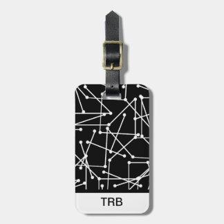 CHIC LUGGAGE/BAG TAG_MODERN WHITE GEOMETRIC LUGGAGE TAG