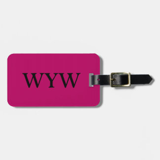CHIC LUGGAGE/GIFT TAG_234 WINE SOLID LUGGAGE TAG