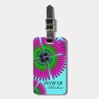 CHIC LUGGAGE/GIFT TAG_HAWAII_TROPICAL FLOWERS BAG TAG