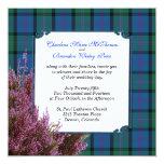 "Chic MacThomas Tartan Plaid Heather Wedding 5.25"" Square Invitation Card"