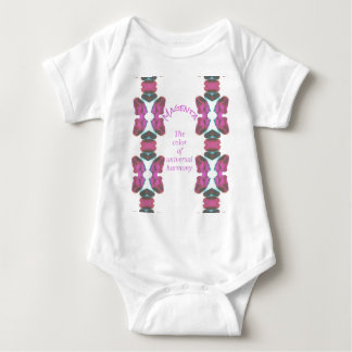 Chic 'Magenta Color of Universal Harmony Artistic Baby Bodysuit