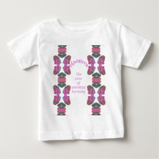 Chic 'Magenta Color of Universal Harmony Artistic Baby T-Shirt