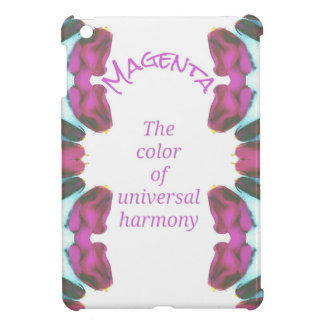 Chic 'Magenta Color of Universal Harmony Artistic Case For The iPad Mini