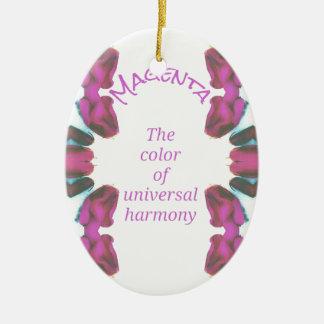 Chic 'Magenta Color of Universal Harmony Artistic Ceramic Ornament