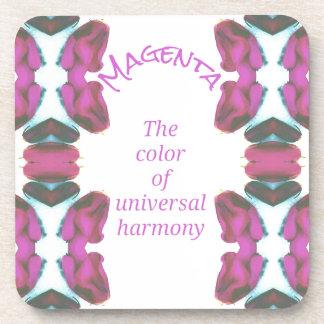 Chic 'Magenta Color of Universal Harmony Artistic Coaster