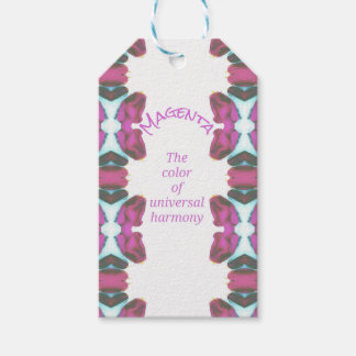 Chic 'Magenta Color of Universal Harmony Artistic Gift Tags