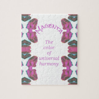 Chic 'Magenta Color of Universal Harmony Artistic Jigsaw Puzzle