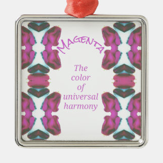 Chic 'Magenta Color of Universal Harmony Artistic Metal Ornament